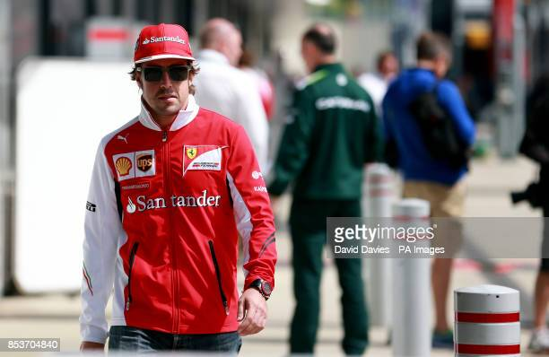 Ferrari's Fernando Alonso during the 2014 British Grand Prix at Silverstone Circuit Towcester
