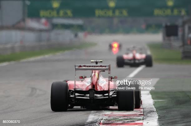 Ferrari's Fernando Alonso during the Italian Grand Prix and the Autodromo Nazionale Monza Monza Italy