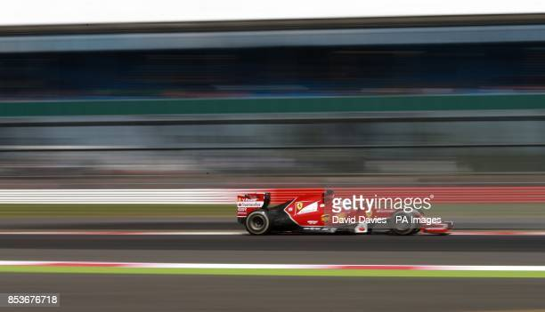 Ferrari's Fernando Alonso during the practice day at Silverstone Circuit Towcester
