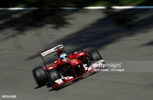 Ferrari's Fernando Alonso of Spain during practice day for the 2013 Italian Grand Prix at the Autodromo di Monza in Monza Italy