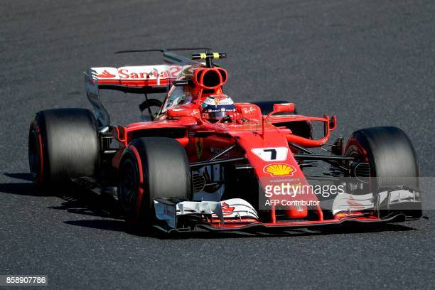 Ferrari's Finland driver Kimi Raikkonen drives during the Formula One Japanese Grand Prix at Suzuka on October 8 2017 / AFP PHOTO / Kiyoshi OTA