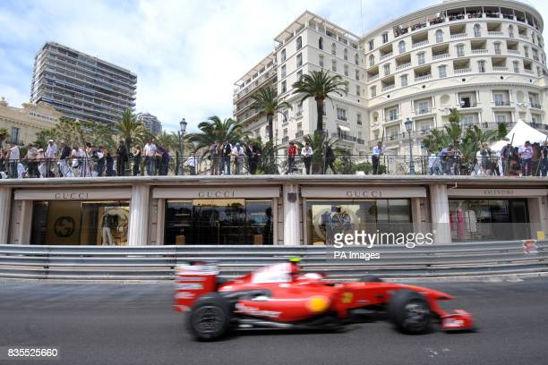 Ferrari's Kimi Raikkonen during a practice session at the Circuit de Monaco Monte Carlo Monaco