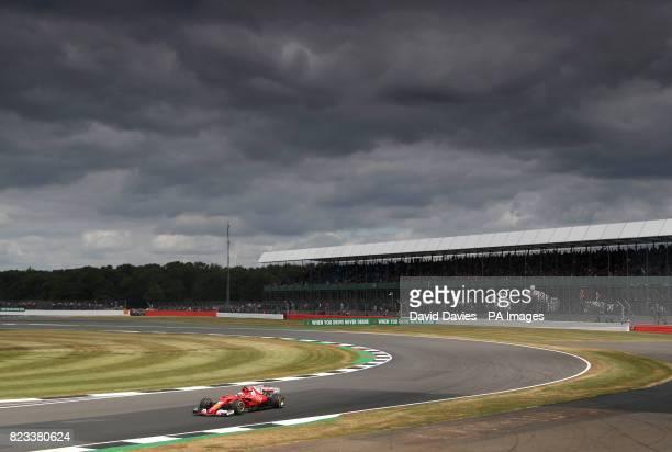 Ferrari's Kimi Raikkonen during second practice of the 2017 British Grand Prix at Silverstone Circuit Towcester