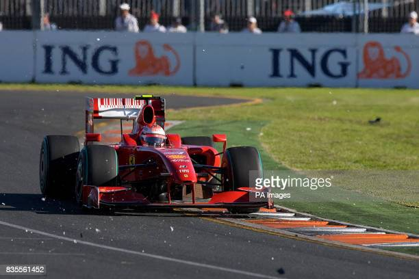 Ferrari's Kimi Raikkonen during the Australian Grand Prix at Albert Park Melbourne Australia