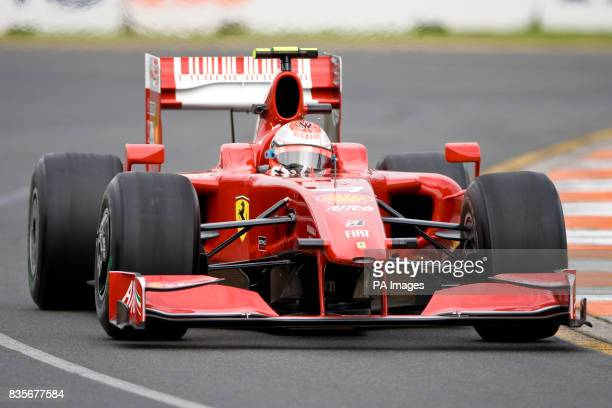 Ferrari's Kimi Raikkonen during the first practice at Albert Park