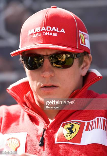 Ferrari's Kimi Raikkonen during the Paddock Day at Albert Park Melbourne Australia