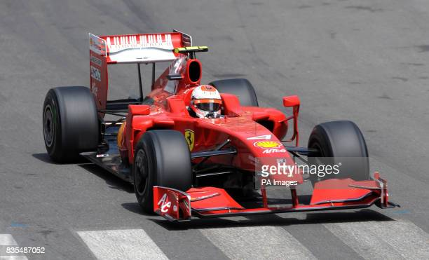 Ferrari's Kimi Raikkonen during the qualifying session at the Circuit de Monaco Monte Carlo Monaco