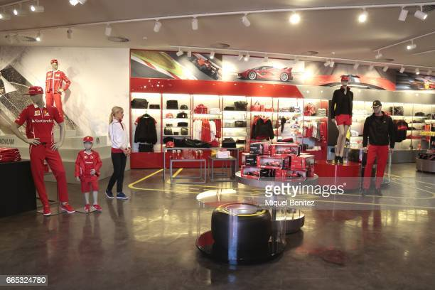 Ferrari's store new Ferrari Land at Port Aventura World on April 6 2017 in Tarragona Spain