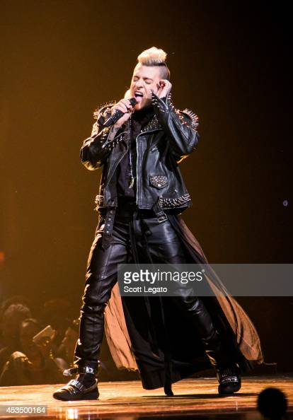 Ferras performs onstage before Katy Perry during 'The Prismatic World Tour' at The Palace of Auburn Hills on August 11 2014 in Auburn Hills Michigan