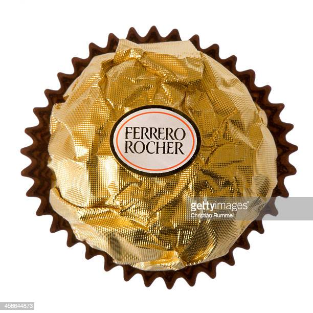 Ferrero Rocher Praline isolated on white Background