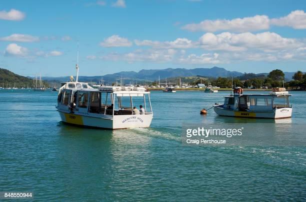 Ferries on Mercury Bay.