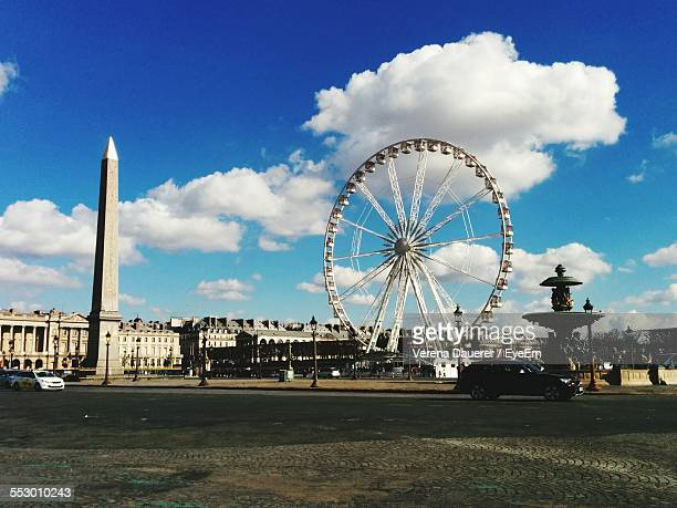 Ferris Wheel At Place De La Concorde Against Sky