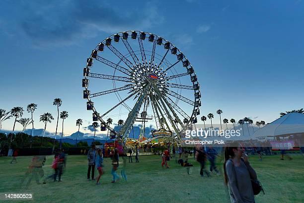 Ferris wheel at the 2012 Coachella Valley Music Arts Festival held at The Empire Polo Field on April 13 2012 in Indio California