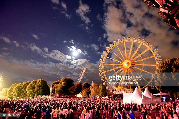 Ferris wheel during the Muenchner Sommernachtstraum at Olympiapark on July 25 2015 in Munich Germany