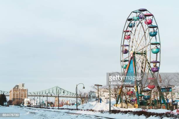 Ferris wheel in a urban city