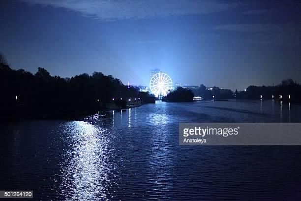 Ferris Wheel in Hyde Park at Night