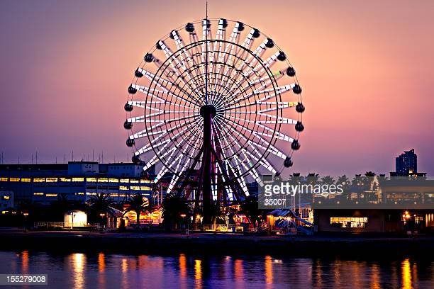 ferris wheel in kobe, japan
