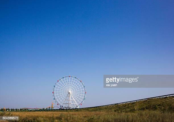 Ferris Wheel On Hulunbuir Grasslands,Hulun Buir City,Inner Mongolia,China