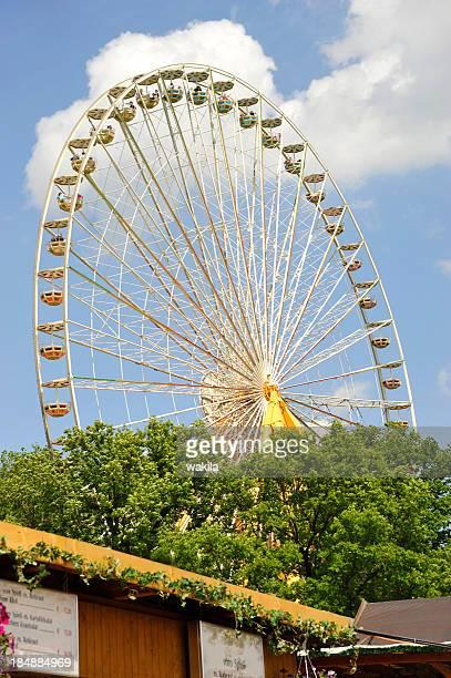 Riesenrad-bei der Bergkirchweih ferris wheel point of view