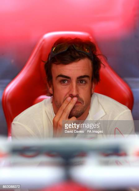 Ferrrai's Fernando Alonso during practice day for the 2013 Italian Grand Prix at the Autodromo di Monza in Monza Italy