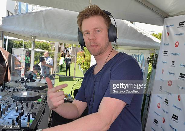 Ferry Corsten performs live on SiriusXM's 'UMF Radio' at the SiriusXM Music Lounge at W Hotel on March 21 2013 in Miami Florida