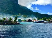 Welcome to the small harbour of Bora Bora