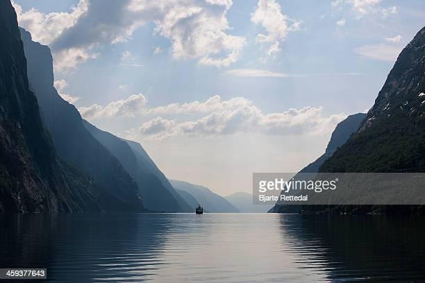 Ferry in Lysefjorden