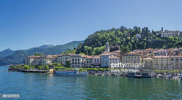 Ferry moored at Bellagio, on Lake Como