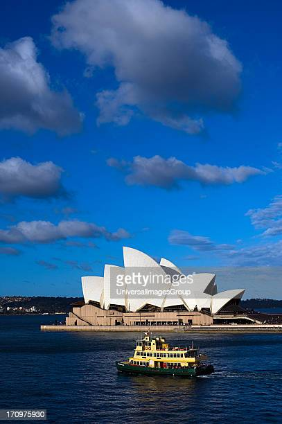 Ferry on Sydney Harbour in front of Sydney Opera House Sydney New South Wales NSW Australia