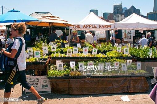 Ferry Plaza Farmers Market. : Foto de stock