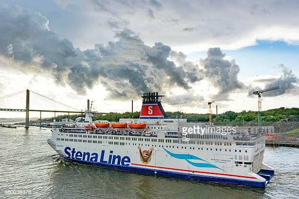 Ferry Stena Danica in the port of Gothenburg in Sweden