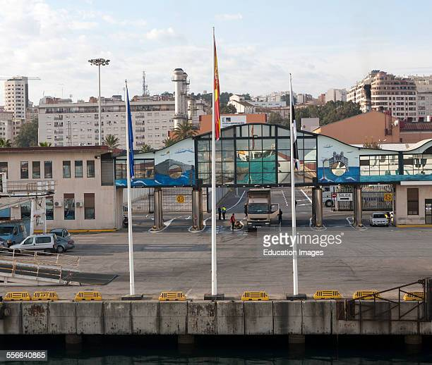 Ferry terminal in the port of Cueta Spanish territory in north Africa Spain