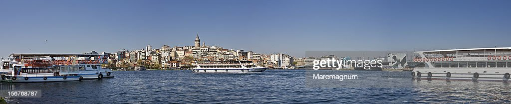 Ferryboats in the Golden Horn : Stock Photo