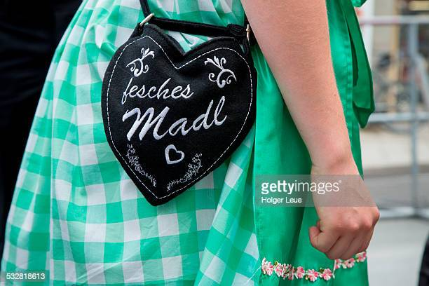 Fesches Madl handbag on Dirndl dress