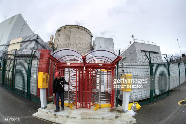 A Fessenheim nuclear power plant's employee leaves a security area on April 9 in Fessenheim eastern France AFP PHOTO / SEBASTIEN BOZON