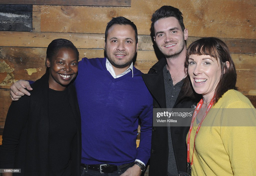 Fest Director <a gi-track='captionPersonalityLinkClicked' href=/galleries/search?phrase=Jacqueline+Lyanga&family=editorial&specificpeople=2165482 ng-click='$event.stopPropagation()'>Jacqueline Lyanga</a>, filmmakers Michael Lopez and Ryan Perez-Daple and Senior Executive of Industry Relations at the British Film Commission Tara Halloran attend the UK Film Brunch at Sundance - 2013 Park City on January 20, 2013 in Park City, Utah.