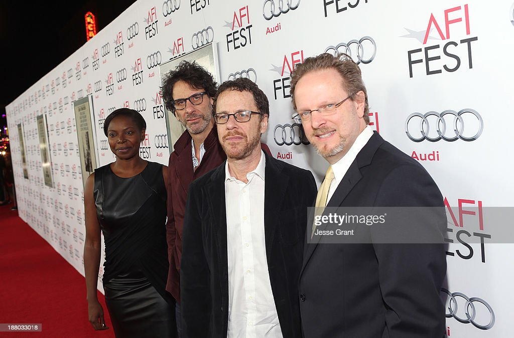 AFI Fest Director Jacqueline Lyanga, writer/director Joel Coen, writer/director Ethan Coen and AFI President and CEO Bob Gazzale attend the 'Inside Llewyn Davis' Gala Screening during AFI FEST 2013 presented by Audi at TCL Chinese Theatre on November 14, 2013 in Hollywood, California.