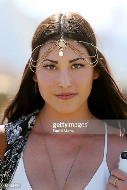 Festival attendee wearing accesories by Claire's during the 2015 Coachella Valley Music and Arts Festival Weekend 1 at The Empire Polo Club on April...