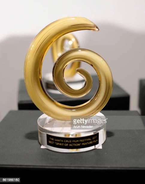 Festival Award on display for the Santa Cruz Film Festival at Tannery Arts Center on October 15 2017 in Santa Cruz California
