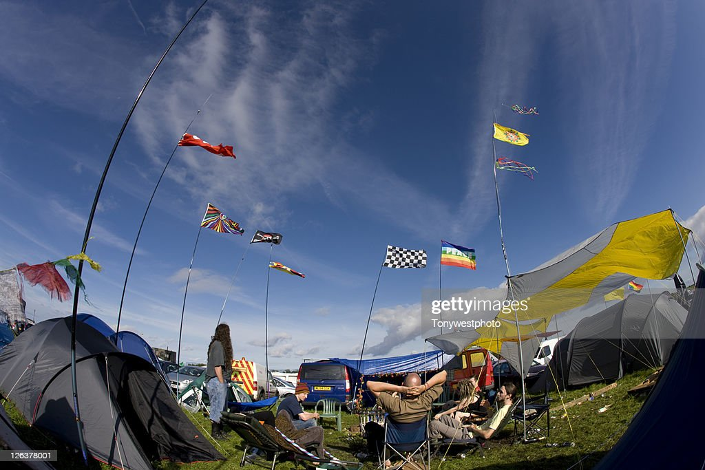 Festival camping, Solfest, Cumbria UK : Stock Photo