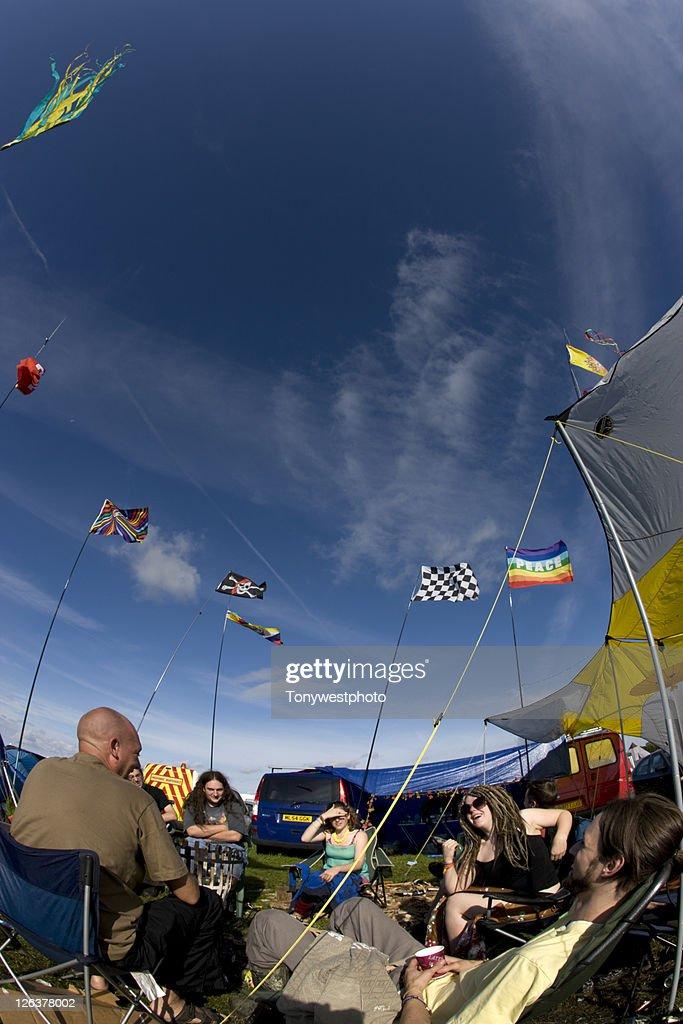 Festival camping, Solfest, Cumbria UK : Stock Photo