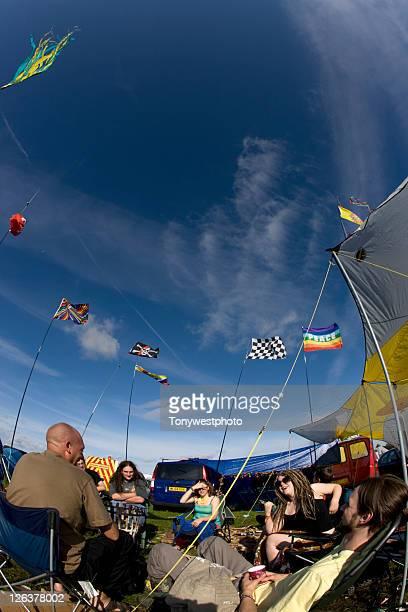 Festival camping, Solfest, Cumbria UK