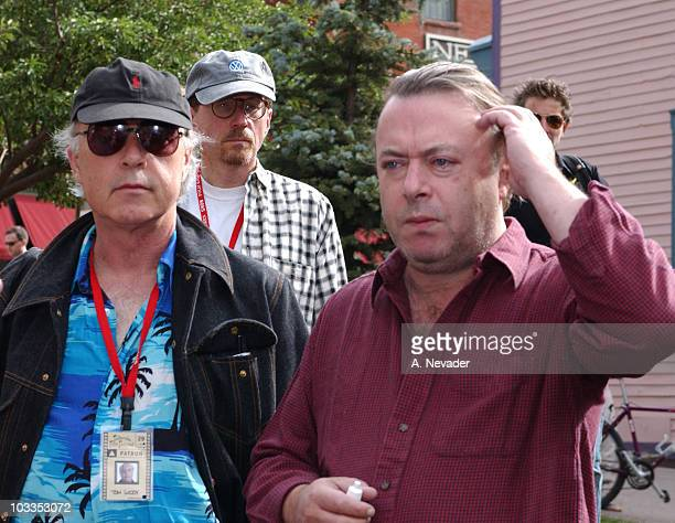 Festival CoDirector Tom Luddy and author Christopher Hitchens