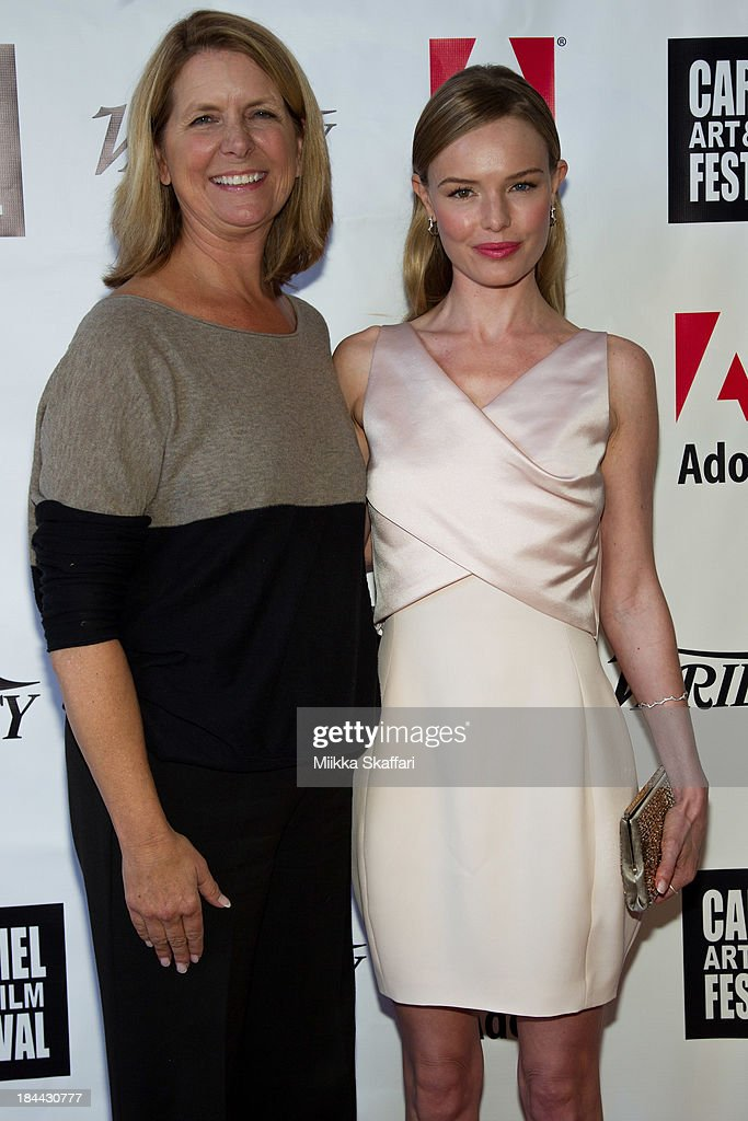 Festival co-founder Erin Clark and actress <a gi-track='captionPersonalityLinkClicked' href=/galleries/search?phrase=Kate+Bosworth&family=editorial&specificpeople=201616 ng-click='$event.stopPropagation()'>Kate Bosworth</a> attend the 5th Annual Carmel Art & Film Festival at Sunset Cultural Arts Center on October 13, 2013 in Carmel, California.