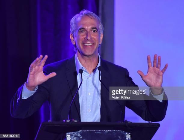 Festival cohost amd film critic Scott Mantz speaks at the San Diego International Film Festival 2017 on October 5 2017 in San Diego California