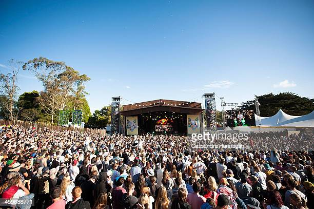 Festival crowd at Falls Festival on December 29 2013 in Lorne Australia
