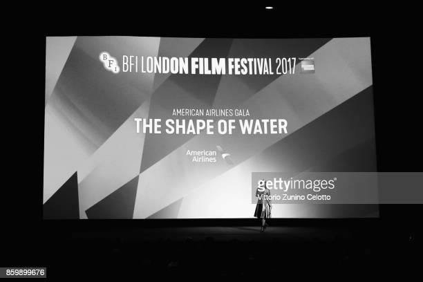 Festival director Clare Stewart speaks onstage ahead of the American Airlines Gala and UK Premiere of 'The Shape Of Water' during the 61st BFI London...