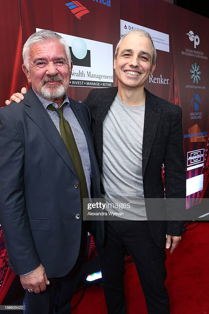Festival Director Darryl Macdonald and Director Pablo Berger at The 24th Annual Palm Springs International Film Festival Opening Night Screening And Receptionon January 3, 2013 in Palm Springs, California.