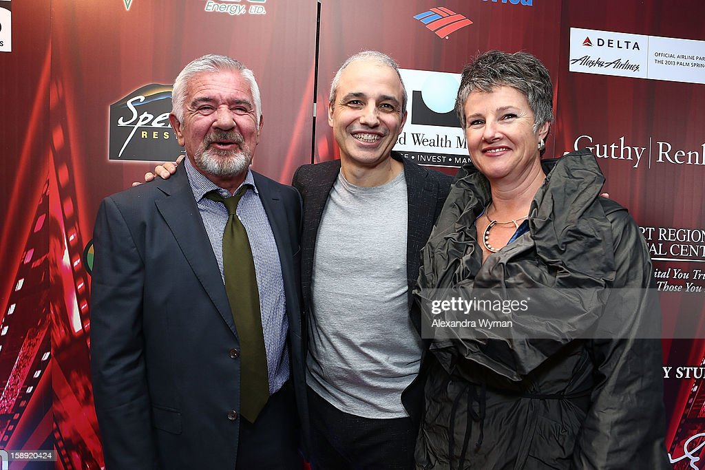 Festival Director Darryl Macdonald, Director Pablo Berger and PSIFF Artistic Director Helen du Toit at The 24th Annual Palm Springs International Film Festival Opening Night Screening And Receptionon January 3, 2013 in Palm Springs, California.