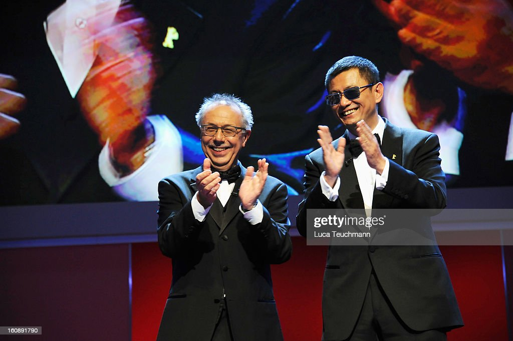 Festival Director Dieter Kosslick (L) and Won Kar Wai during the Opening Ceremony of the 63rd Berlinale International Film Festival at the Berlinale Palast on February 7, 2013 in Berlin, Germany.